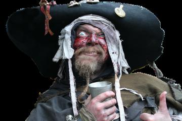 Costume de pirate fait maison pour les femmes