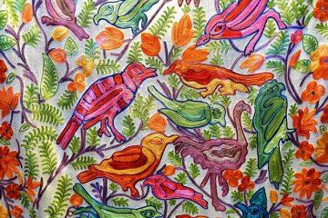 Comment teindre le tissu de coton avec de la peinture à l'eau et de l'aquarelle