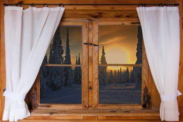 Idées pour les rideaux de cabane en bois rond