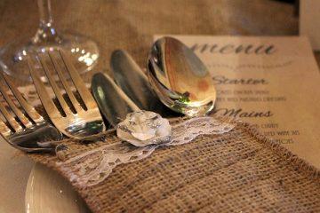 Comment faire des supports de menu pour une réception de mariage